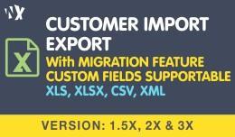 Customer Import Export - 1.5x, 2.x & 3.x