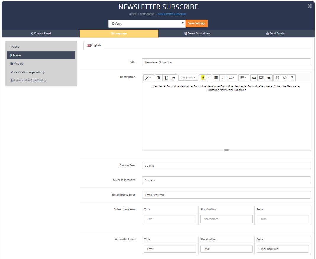 newslettersubscribe footer