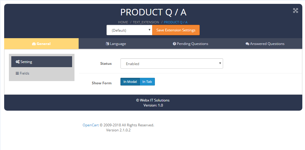 productQ-A setting